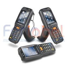 "terminale barcode datalogic skorpio x3 standard range imager 28 tasti, wi-fi, bluetooth, touch screen 3,2"", greenspot, windows ce 6.0"