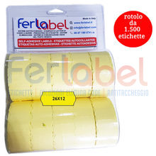 blister rot.etich. 26x12 fluo giallo perm (10 rotoli)