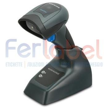 kit lettore quickscan qbt2131 linear imager nero, bluetooth, usb + base + cavo usb