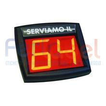 display eliminacode myturn a 2 cifre a segmenti luminosi 24/12 volt (per ambulanti)