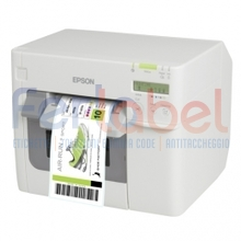 stampante per etichette epson colorworks c3500, usb + lan + cutter + nicelabel