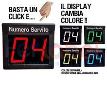 display eliminacode a due cifre colore giallo rosso blu bianco verde