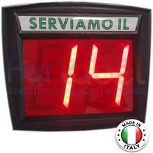 display eliminacode myturn vd3 a 2 cifre a segmenti luminosi
