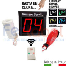 kit eliminacode display multicolor+radiocomando con microdisplay+chiocciola+5 rotoli